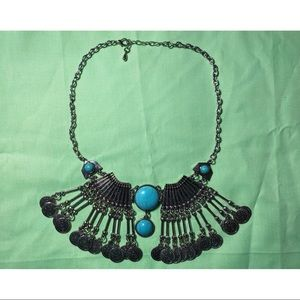 Turquoise Howlet Silver Necklace